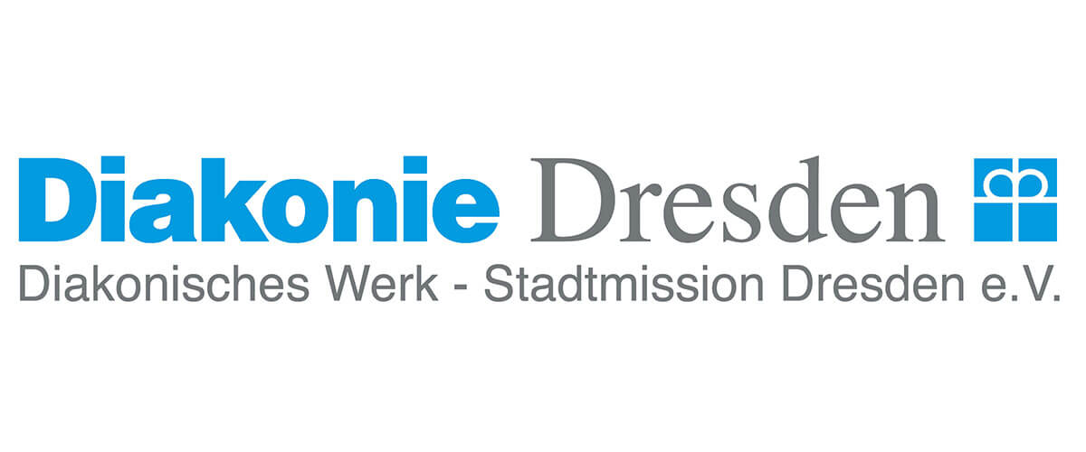 Logo der Diakonie-Stadtmission Dresden, blau-grau